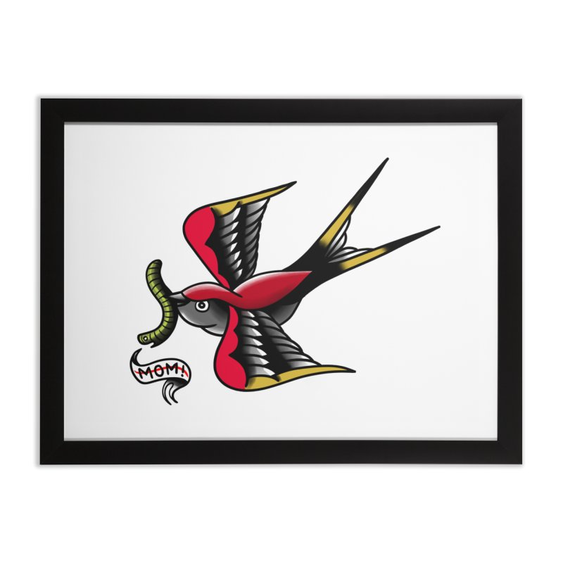 Swallow! Don't! Home Framed Fine Art Print by biernatt's Artist Shop