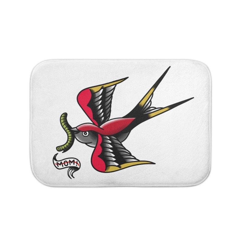 Swallow! Don't! Home Bath Mat by biernatt's Artist Shop
