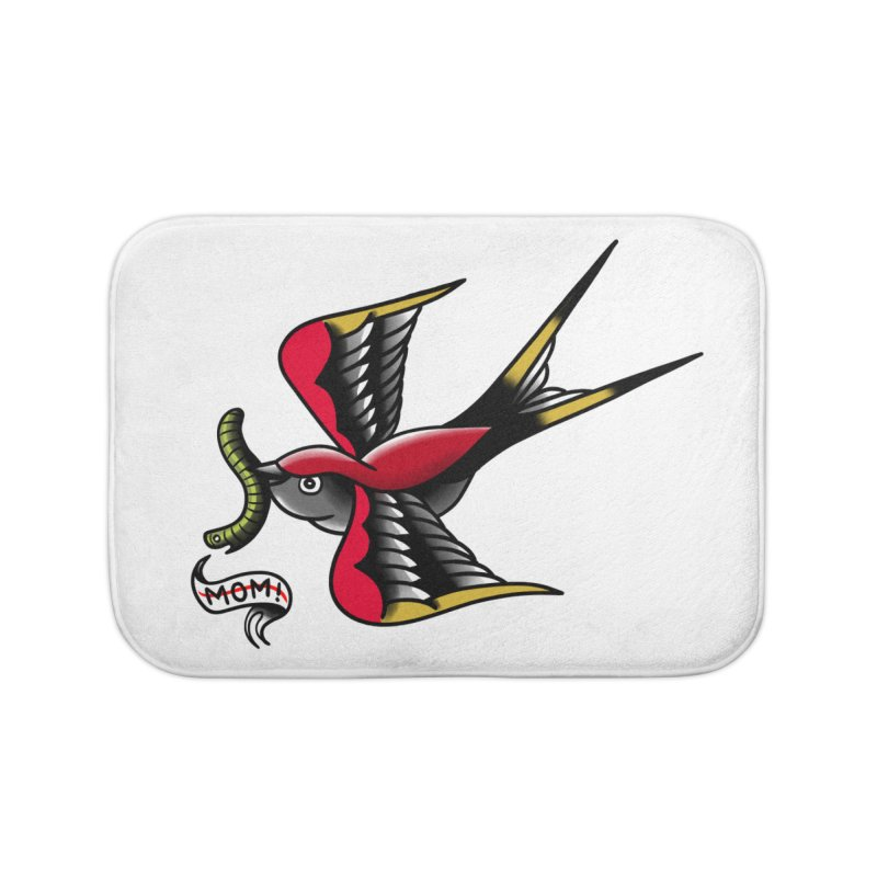 Swallow! Don't! Home Bath Mat by biernatt's Artist Shop