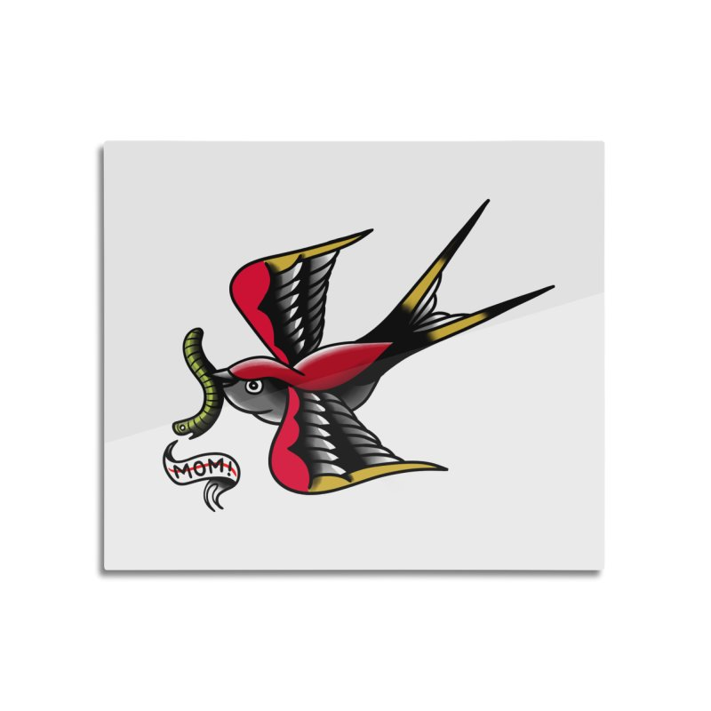 Swallow! Don't! Home Mounted Aluminum Print by biernatt's Artist Shop