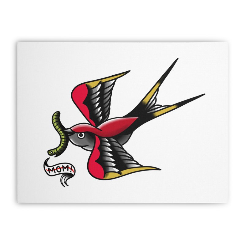 Swallow! Don't! Home Stretched Canvas by biernatt's Artist Shop
