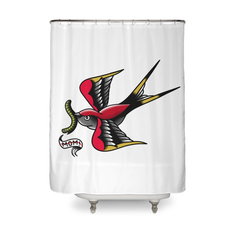 Swallow! Don't! Home Shower Curtain by biernatt's Artist Shop