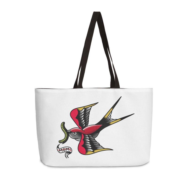 Swallow! Don't! Accessories Weekender Bag Bag by biernatt's Artist Shop