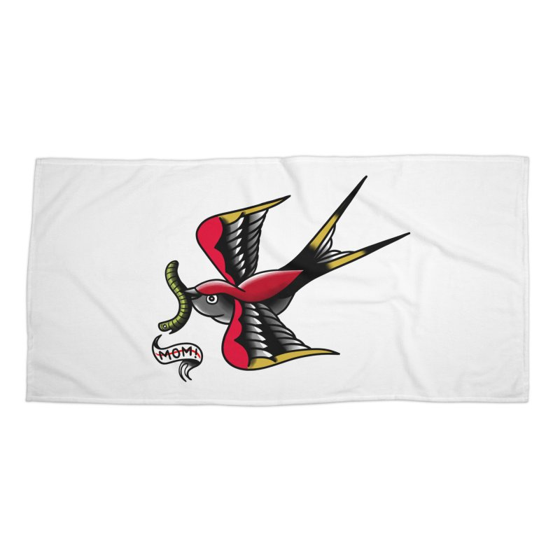 Swallow! Don't! Accessories Beach Towel by biernatt's Artist Shop