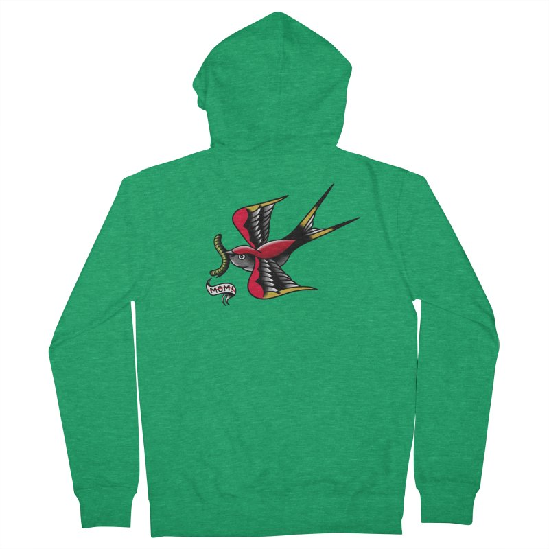 Swallow! Don't! Women's French Terry Zip-Up Hoody by biernatt's Artist Shop