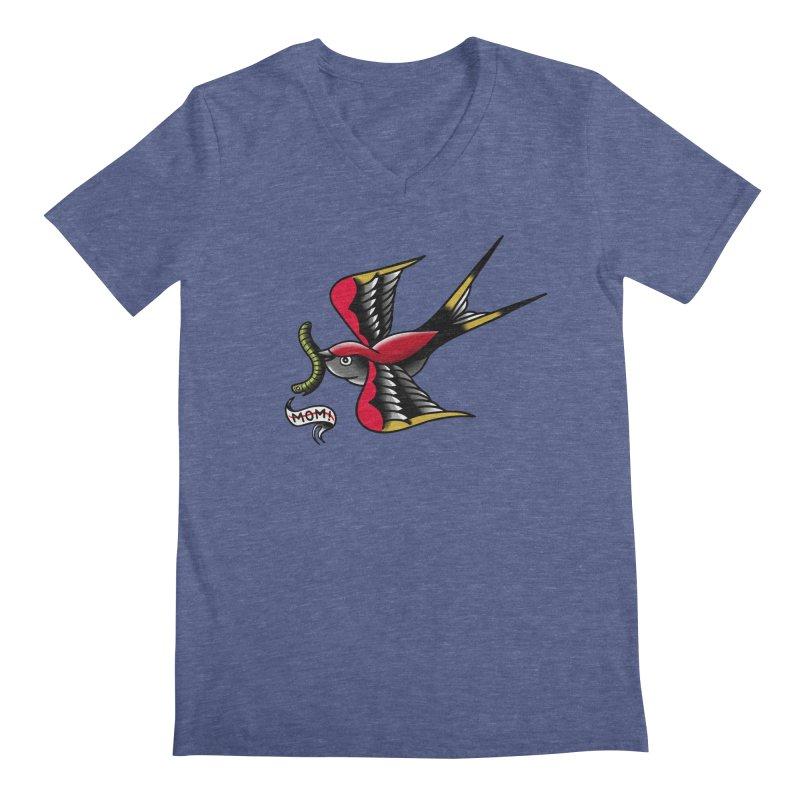 Swallow! Don't! Men's Regular V-Neck by biernatt's Artist Shop
