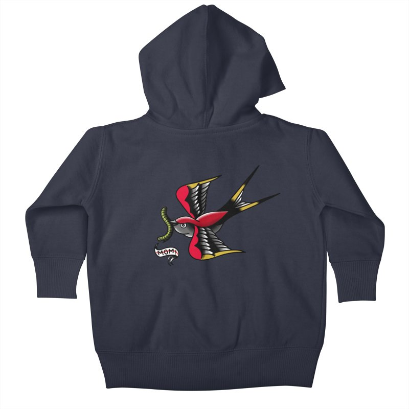 Swallow! Don't! Kids Baby Zip-Up Hoody by biernatt's Artist Shop