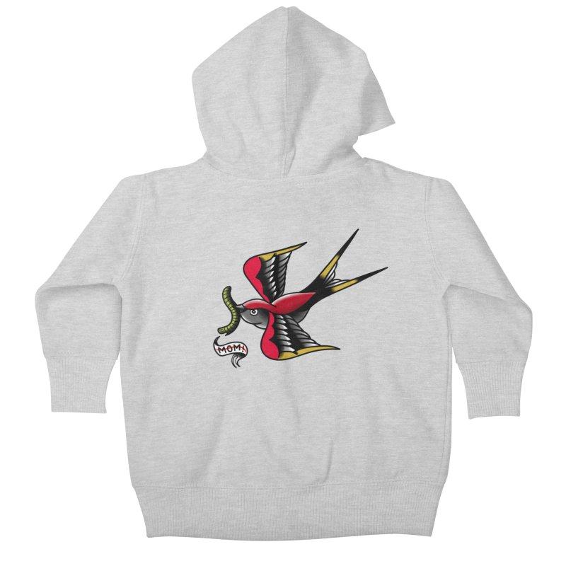 Swallow! Don't! Kids Baby Zip-Up Hoody by biernatt's Artist Shop
