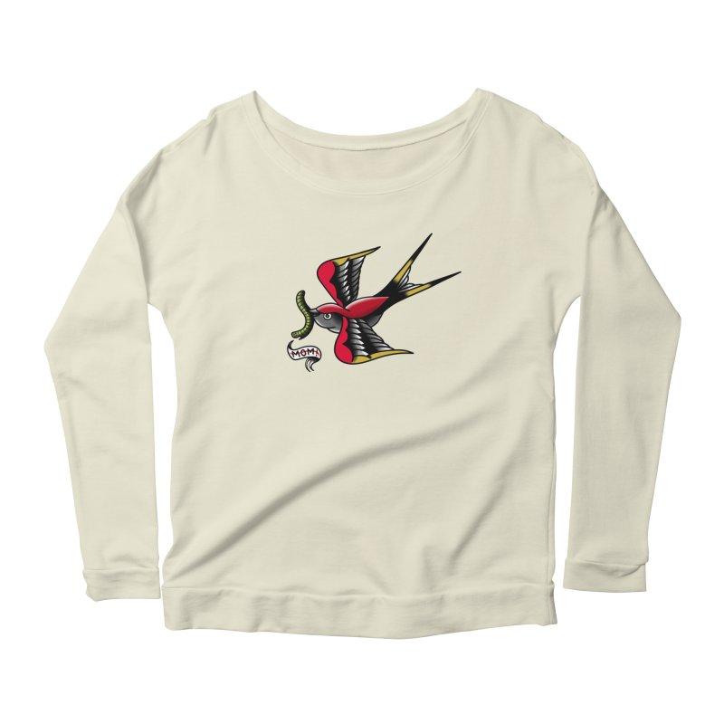 Swallow! Don't! Women's Scoop Neck Longsleeve T-Shirt by biernatt's Artist Shop