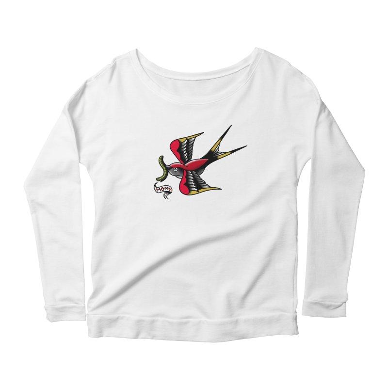 Swallow! Don't! Women's Longsleeve Scoopneck  by biernatt's Artist Shop