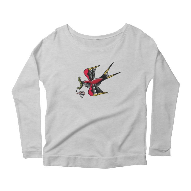 Swallow! Don't! Women's Scoop Neck Longsleeve T-Shirt by biernatt's Artist Shop