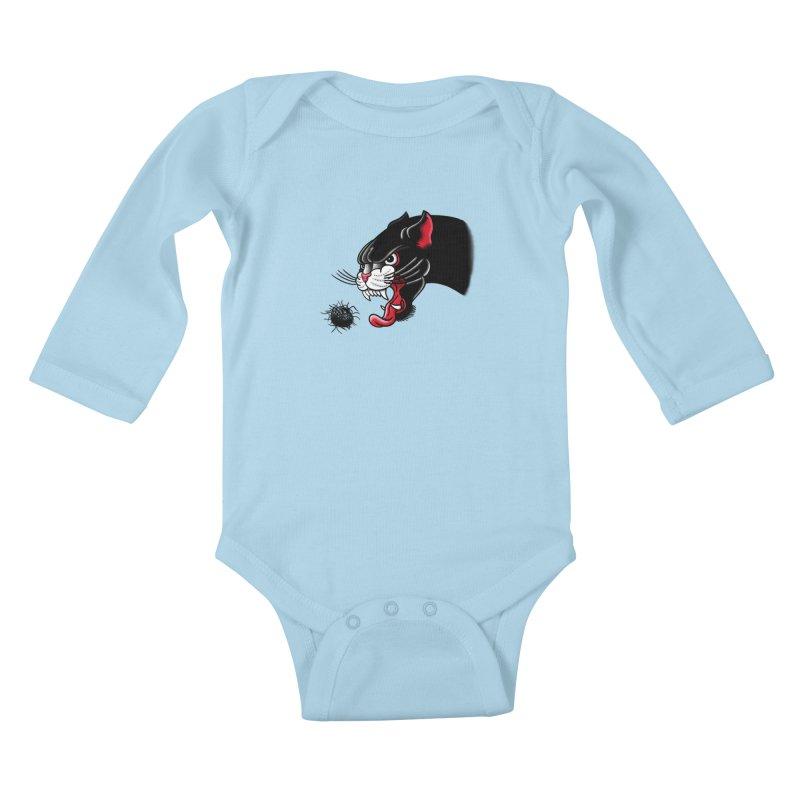 Furball fury Kids Baby Longsleeve Bodysuit by biernatt's Artist Shop