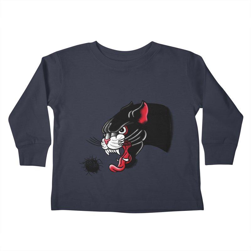 Furball fury Kids Toddler Longsleeve T-Shirt by biernatt's Artist Shop