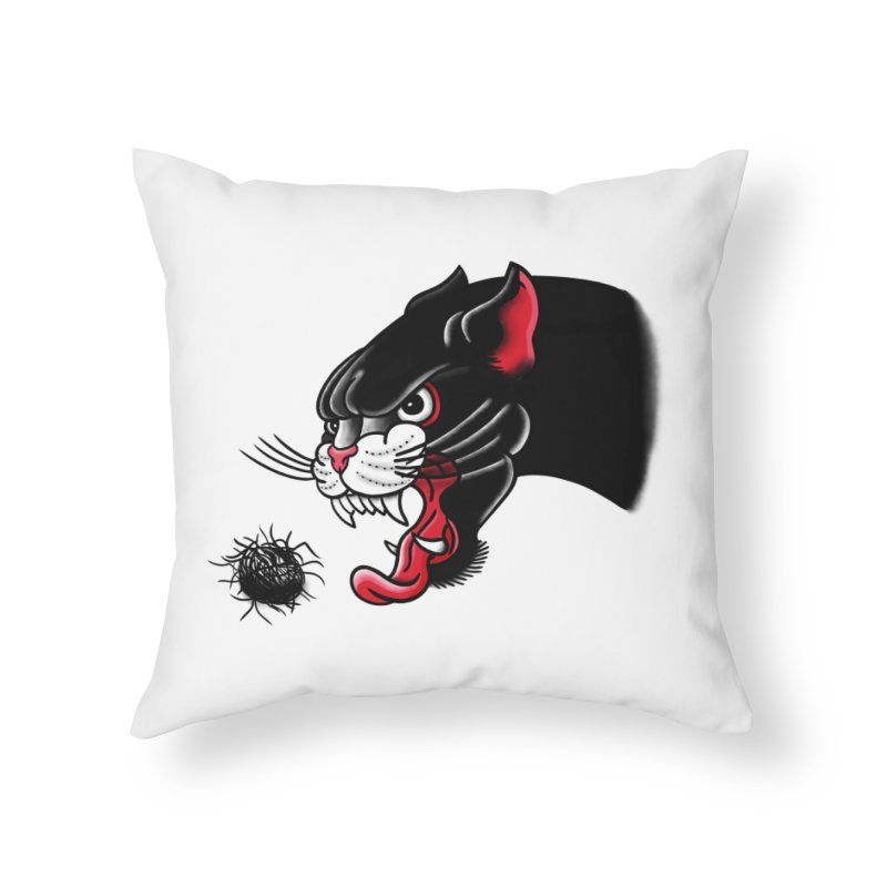 Furball fury Home Throw Pillow by biernatt's Artist Shop