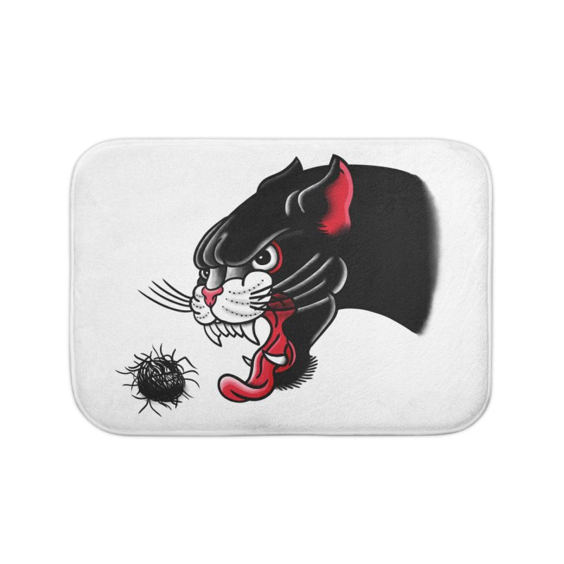 Furball fury Home Bath Mat by biernatt's Artist Shop