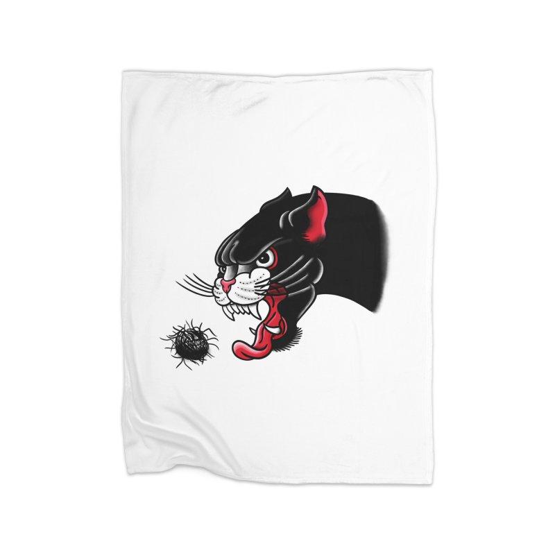 Furball fury Home Blanket by biernatt's Artist Shop
