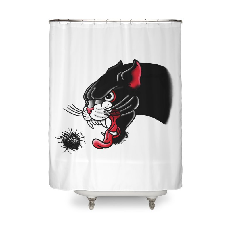 Furball fury Home Shower Curtain by biernatt's Artist Shop