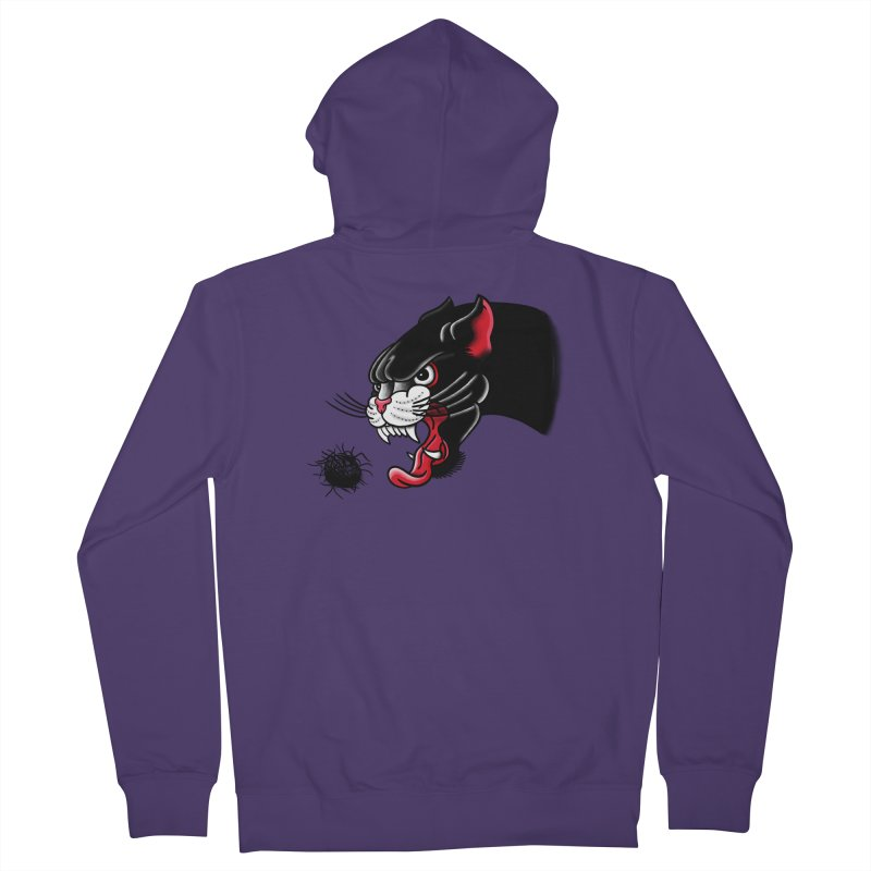 Furball fury Women's French Terry Zip-Up Hoody by biernatt's Artist Shop