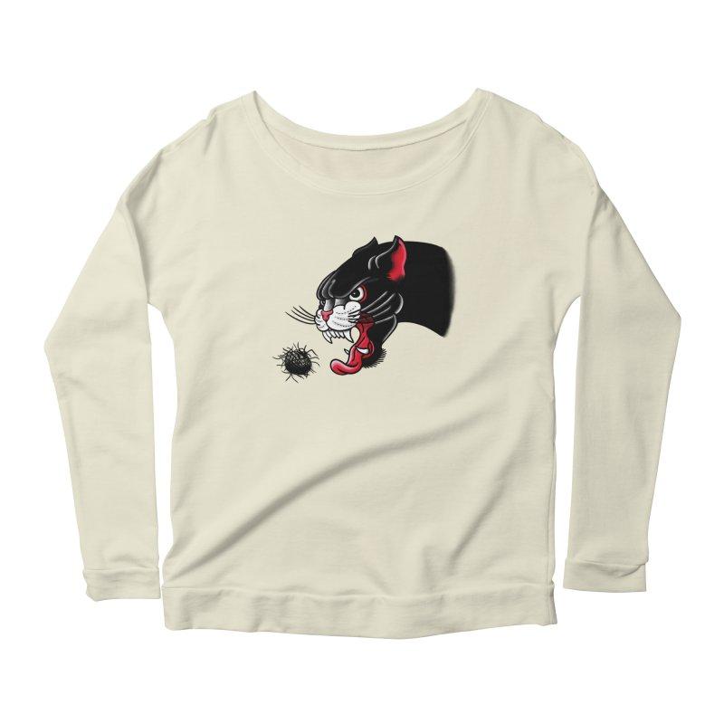 Furball fury Women's Scoop Neck Longsleeve T-Shirt by biernatt's Artist Shop
