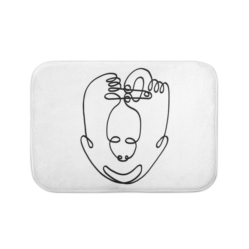 Busy hands idle mind Home Bath Mat by biernatt's Artist Shop