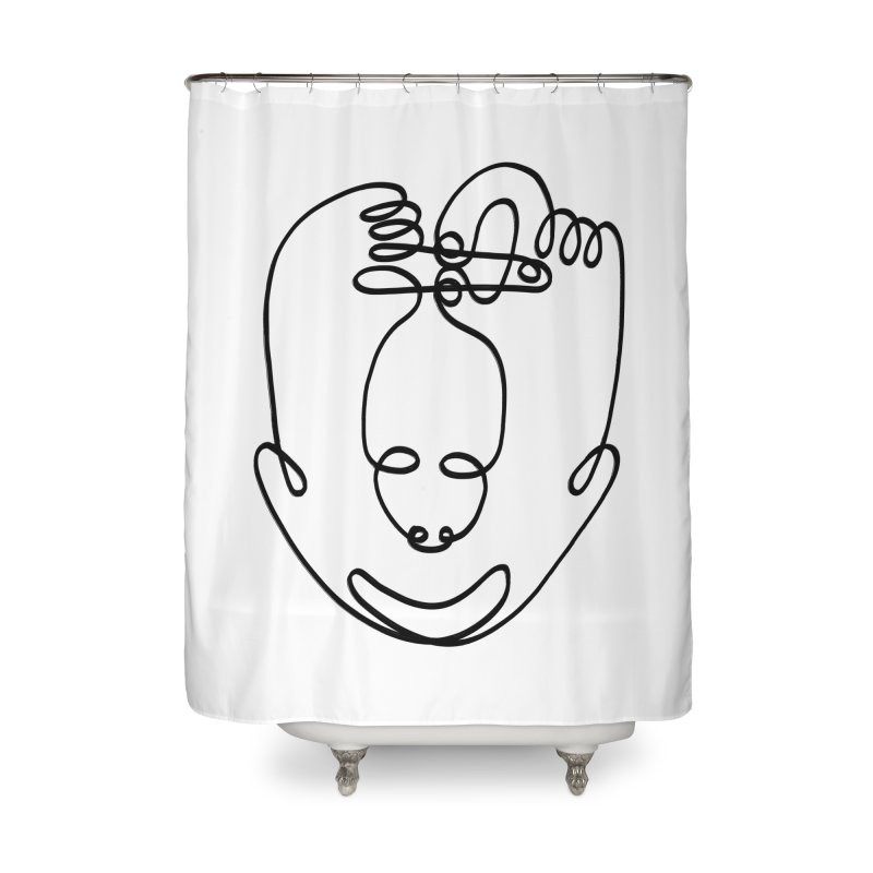 Busy hands idle mind Home Shower Curtain by biernatt's Artist Shop