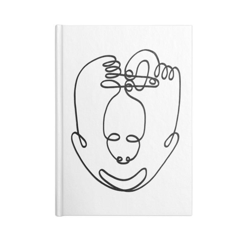 Busy hands idle mind Accessories Lined Journal Notebook by biernatt's Artist Shop