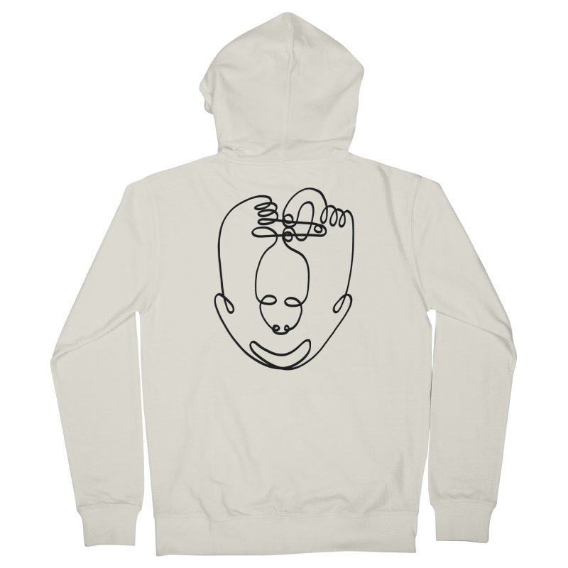 Busy hands idle mind Men's Zip-Up Hoody by biernatt's Artist Shop