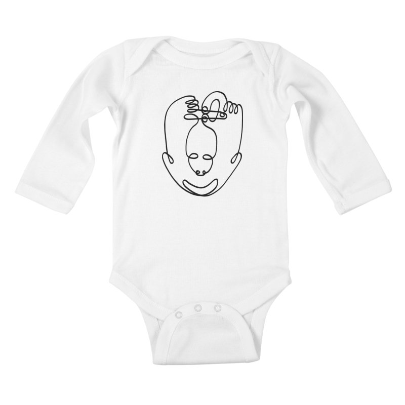 Busy hands idle mind Kids Baby Longsleeve Bodysuit by biernatt's Artist Shop