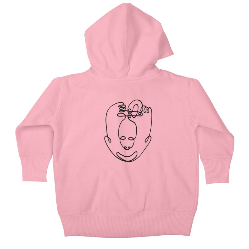 Busy hands idle mind Kids Baby Zip-Up Hoody by biernatt's Artist Shop