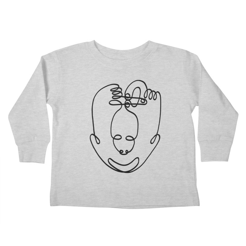 Busy hands idle mind Kids Toddler Longsleeve T-Shirt by biernatt's Artist Shop