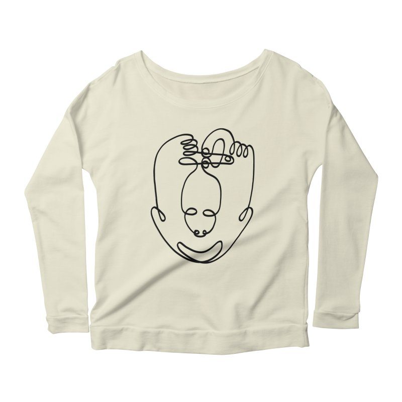 Busy hands idle mind Women's Scoop Neck Longsleeve T-Shirt by biernatt's Artist Shop