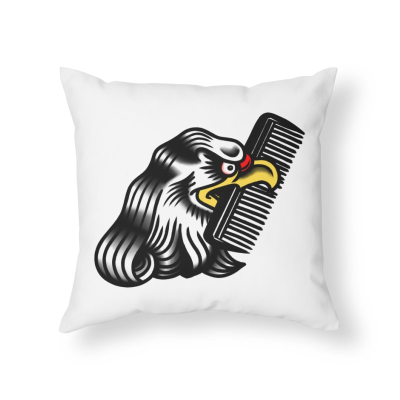 Boldly not bald Home Throw Pillow by biernatt's Artist Shop