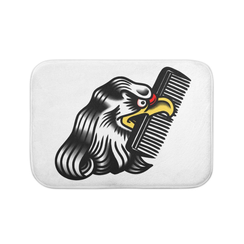 Boldly not bald Home Bath Mat by biernatt's Artist Shop