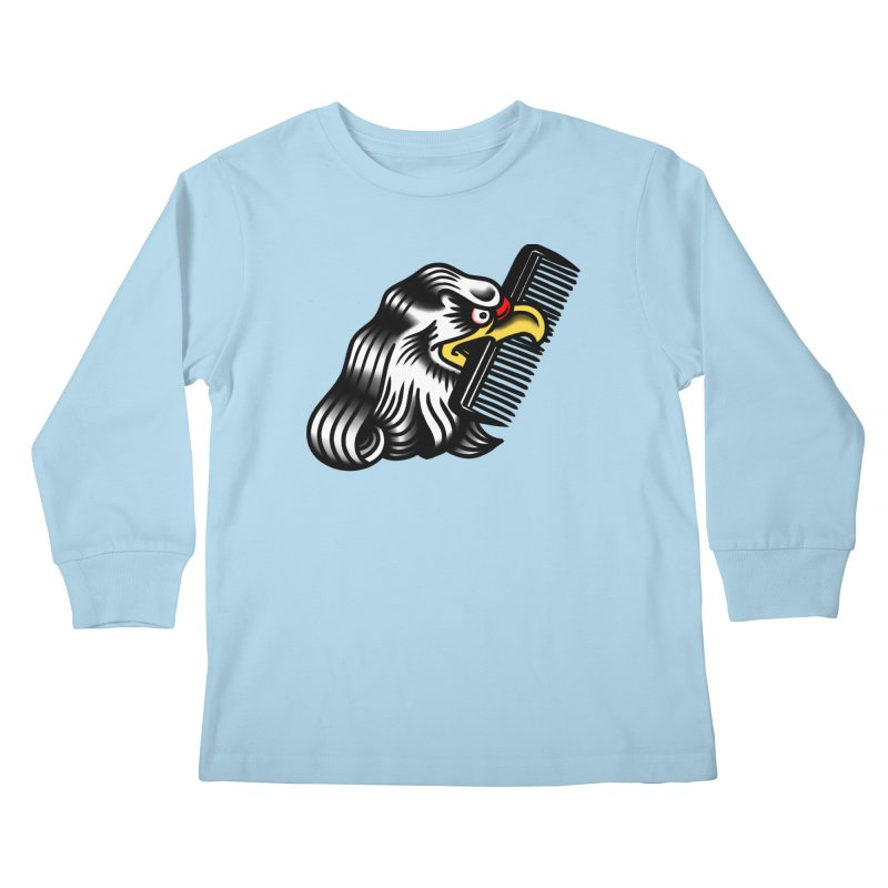Boldly not bald Kids Longsleeve T-Shirt by biernatt's Artist Shop
