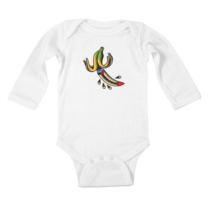 Banaknife Kids Baby Longsleeve Bodysuit by biernatt's Artist Shop