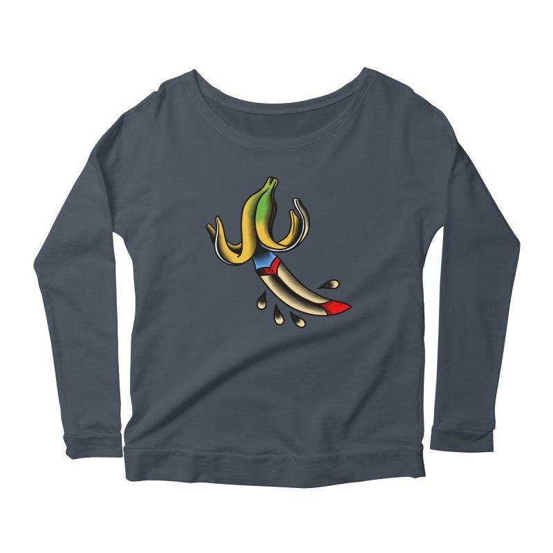 Banaknife Women's Scoop Neck Longsleeve T-Shirt by biernatt's Artist Shop