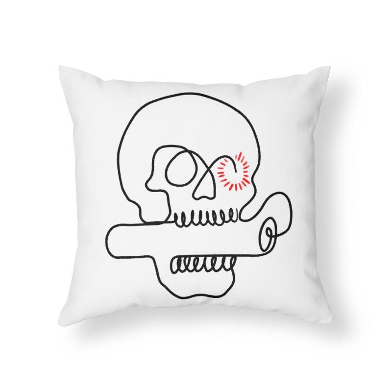Boom! Home Throw Pillow by biernatt's Artist Shop