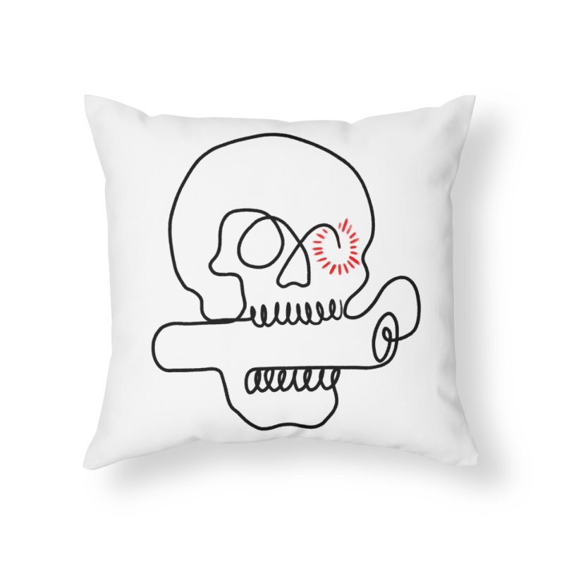 Boom! Home Throw Pillow by biernatt's Artist Shop