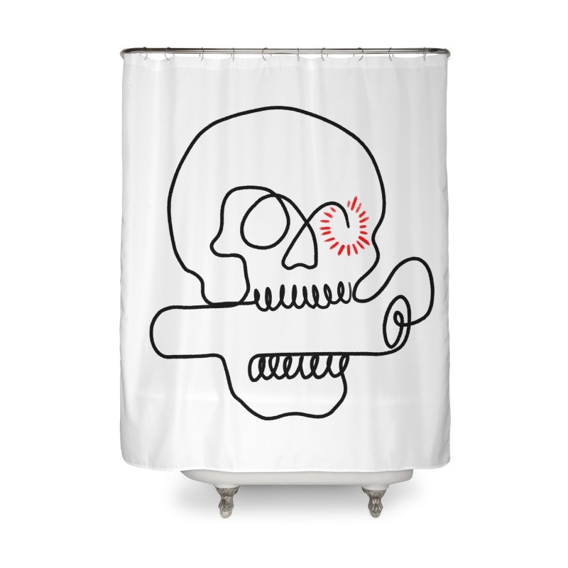 Boom! Home Shower Curtain by biernatt's Artist Shop