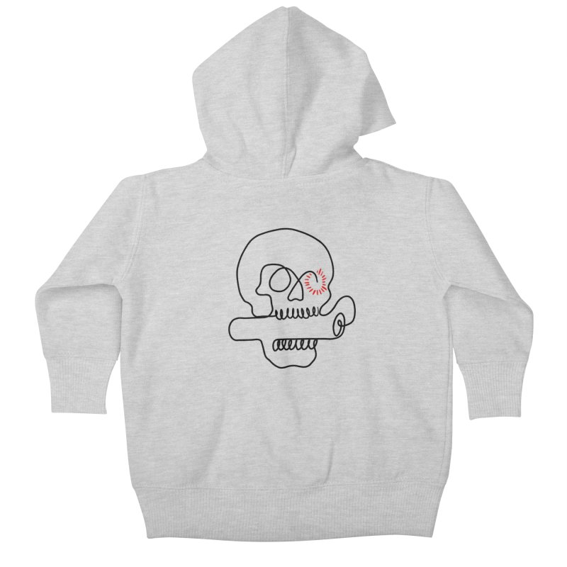 Boom! Kids Baby Zip-Up Hoody by biernatt's Artist Shop