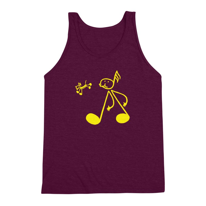 Whistle walker Men's Triblend Tank by biernatt's Artist Shop