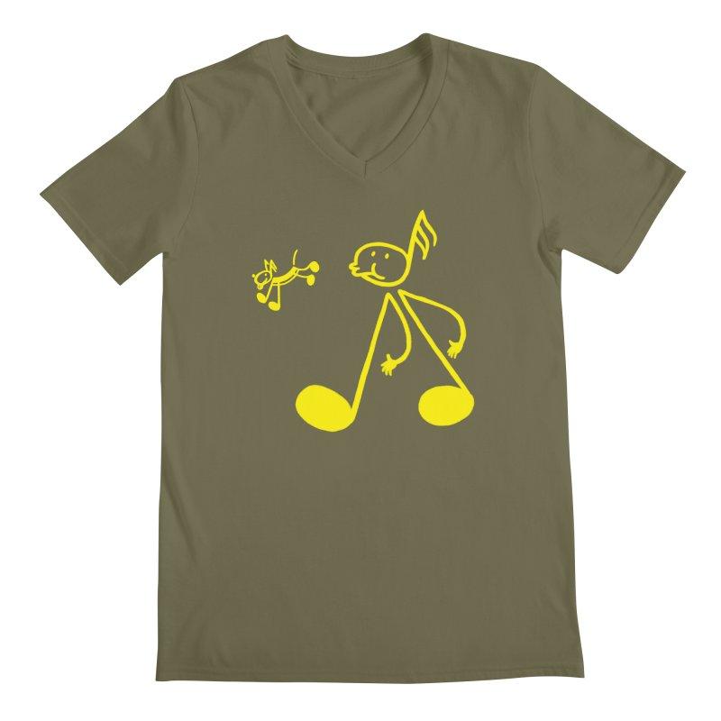 Whistle walker Men's V-Neck by biernatt's Artist Shop