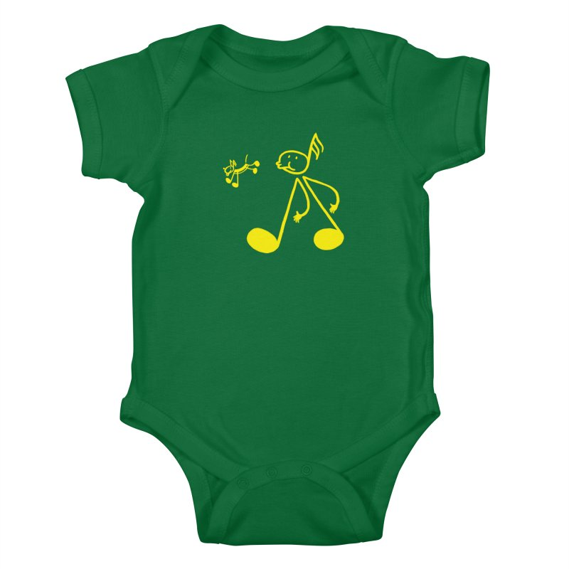 Whistle walker Kids Baby Bodysuit by biernatt's Artist Shop