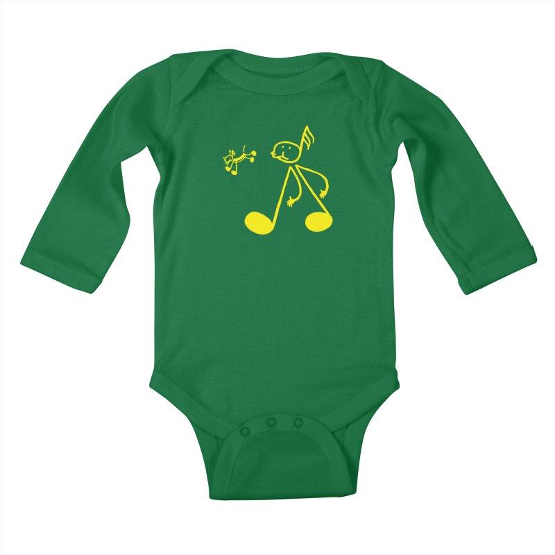Whistle walker Kids Baby Longsleeve Bodysuit by biernatt's Artist Shop