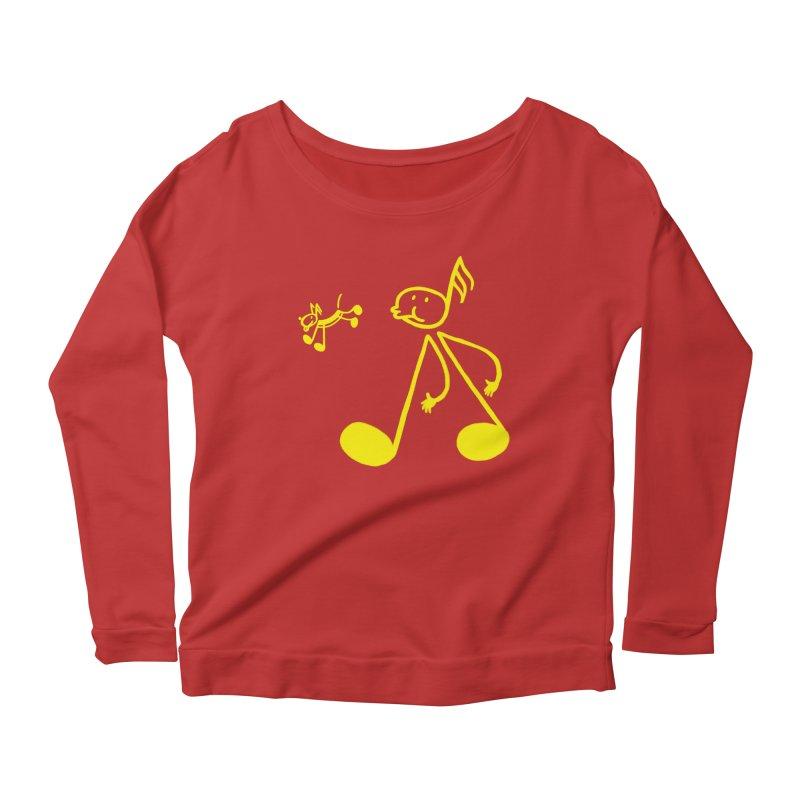 Whistle walker Women's Scoop Neck Longsleeve T-Shirt by biernatt's Artist Shop