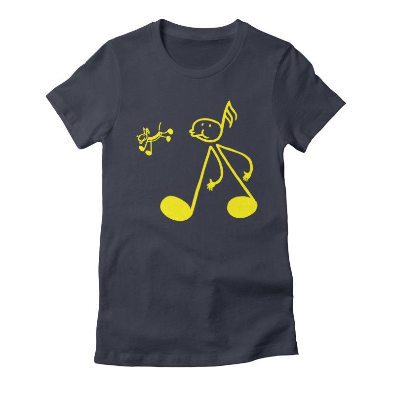 Whistle walker Women's Fitted T-Shirt by biernatt's Artist Shop