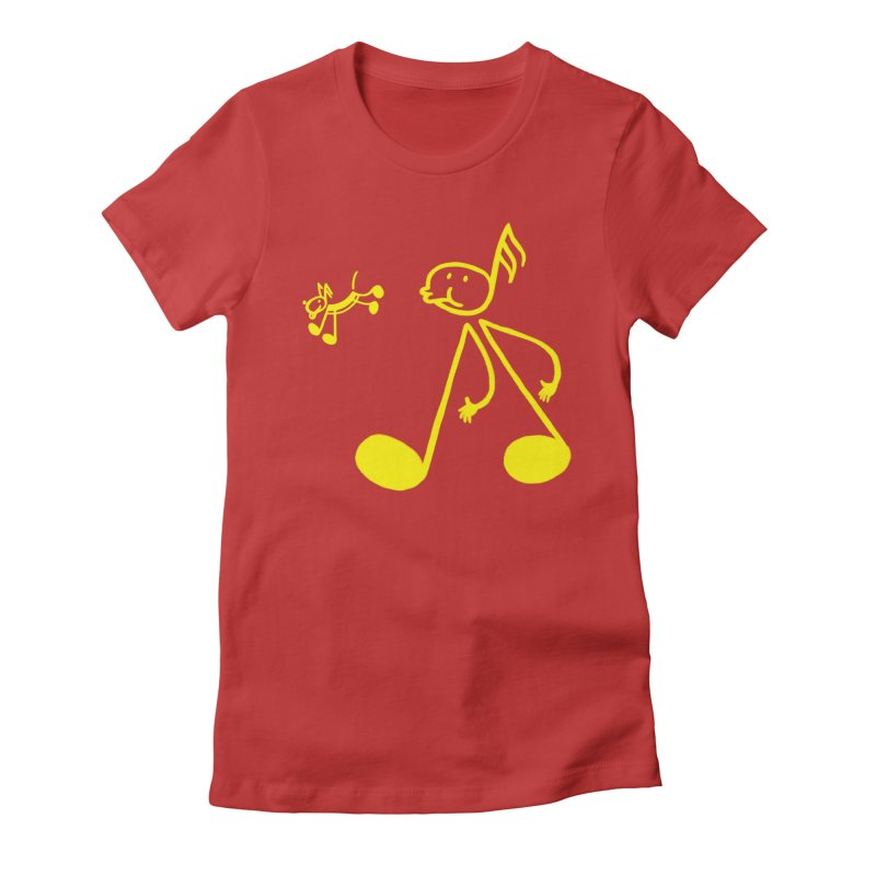 Whistle walker Women's Fitted T-Shirt by biernatt's Artist Shop