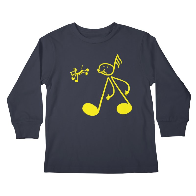 Whistle walker Kids Longsleeve T-Shirt by biernatt's Artist Shop