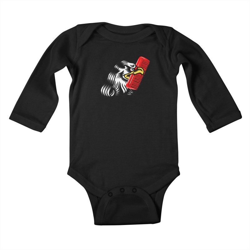 Boldly not bald 2 Kids Baby Longsleeve Bodysuit by biernatt's Artist Shop