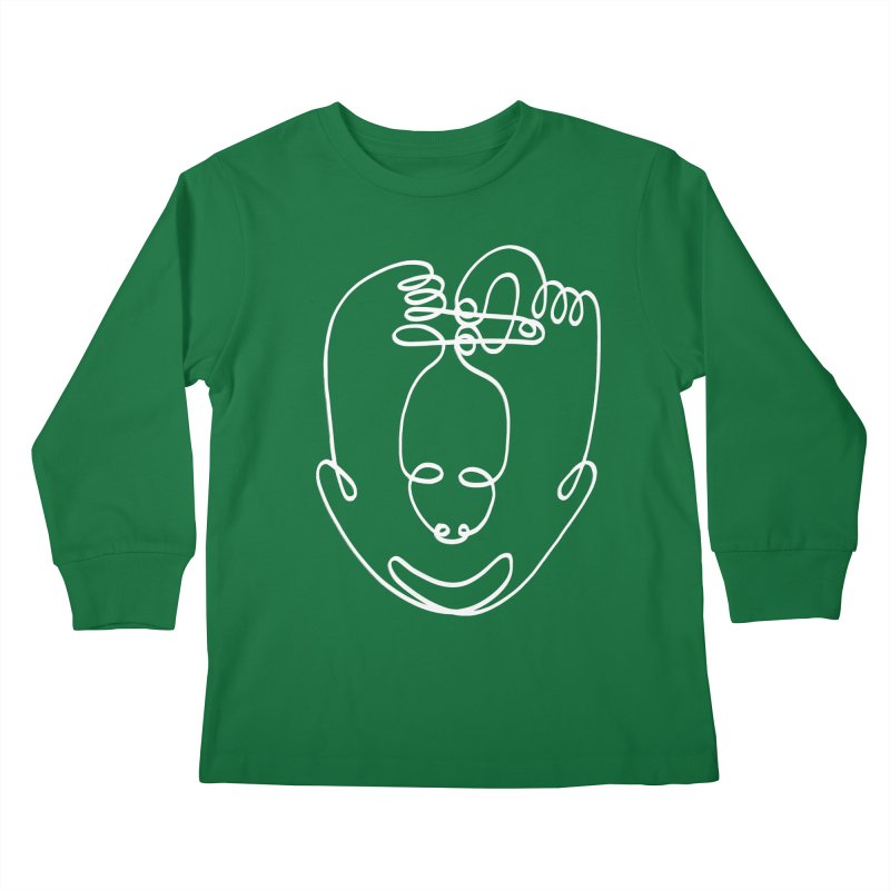 Busy hands idle mind 2 Kids Longsleeve T-Shirt by biernatt's Artist Shop